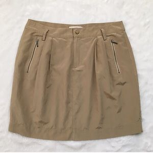 Like New Banana Republic Tan Silk Skirt